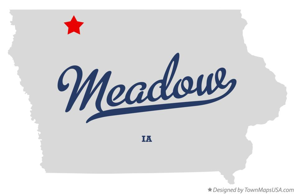 Map of Meadow Iowa IA