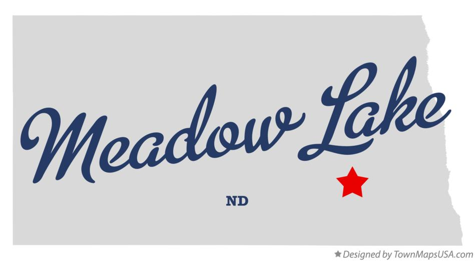 Map of Meadow Lake North Dakota ND