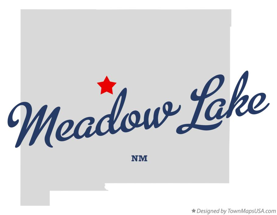 Map of Meadow Lake New Mexico NM