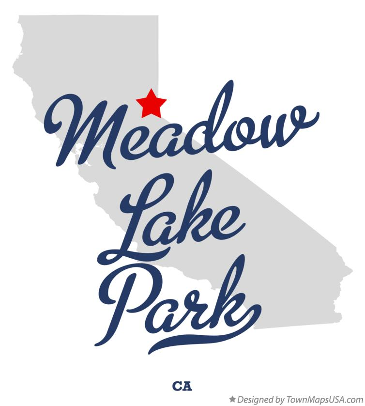 Map of Meadow Lake Park California CA