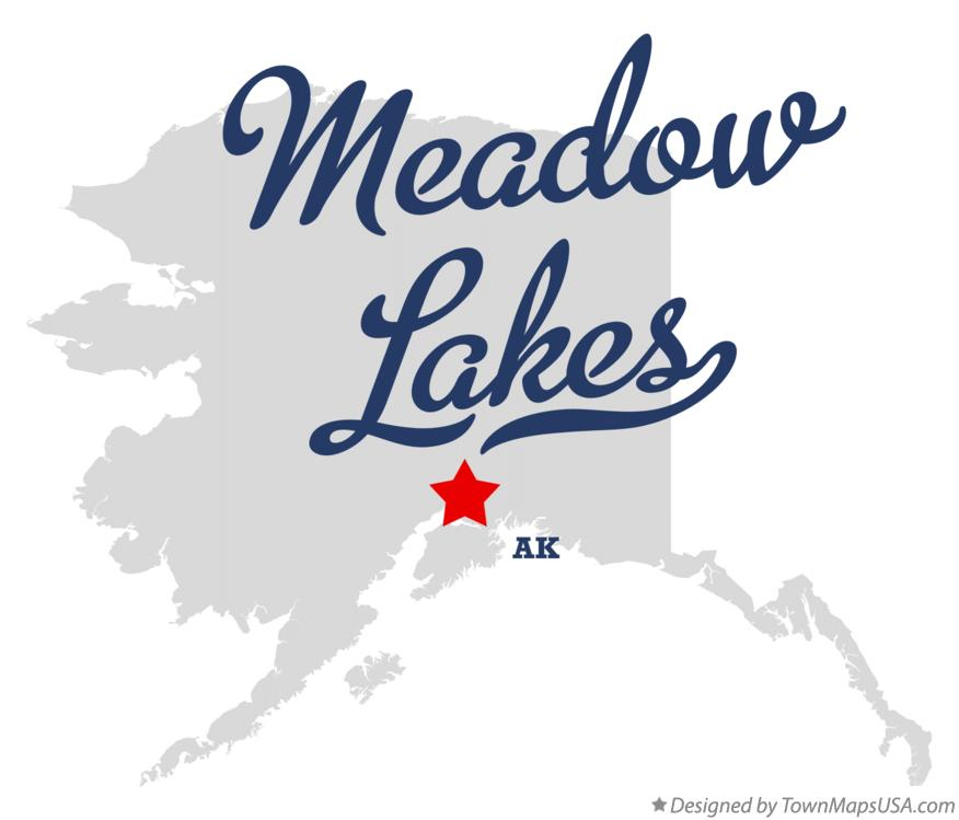 Map of Meadow Lakes Alaska AK