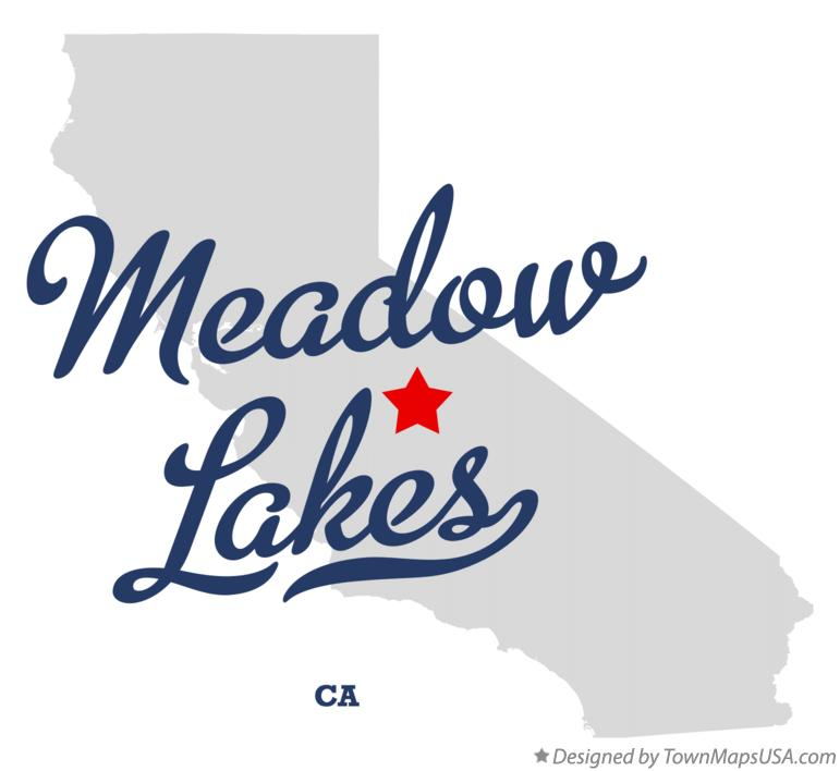 Map of Meadow Lakes California CA