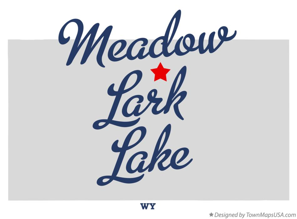 Map of Meadow Lark Lake Wyoming WY