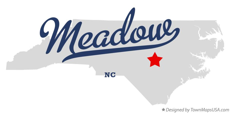 Map of Meadow North Carolina NC