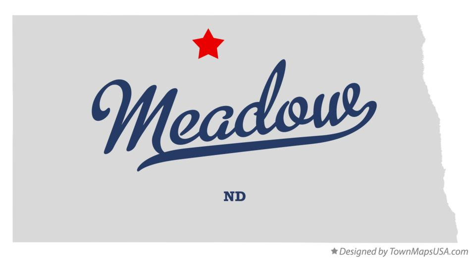 Map of Meadow North Dakota ND