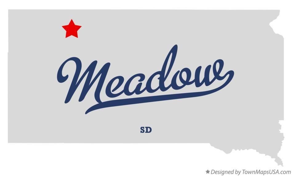 Map of Meadow South Dakota SD