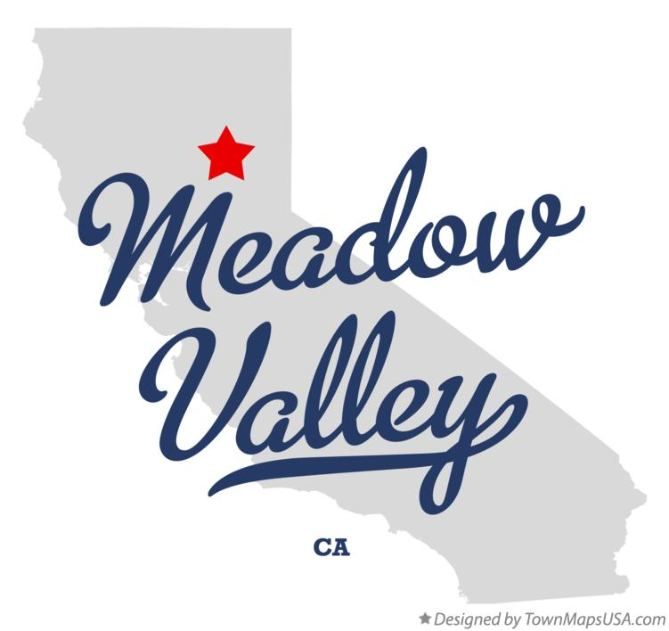 Map of Meadow Valley California CA