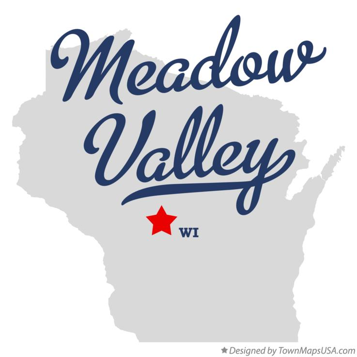 Map of Meadow Valley Wisconsin WI