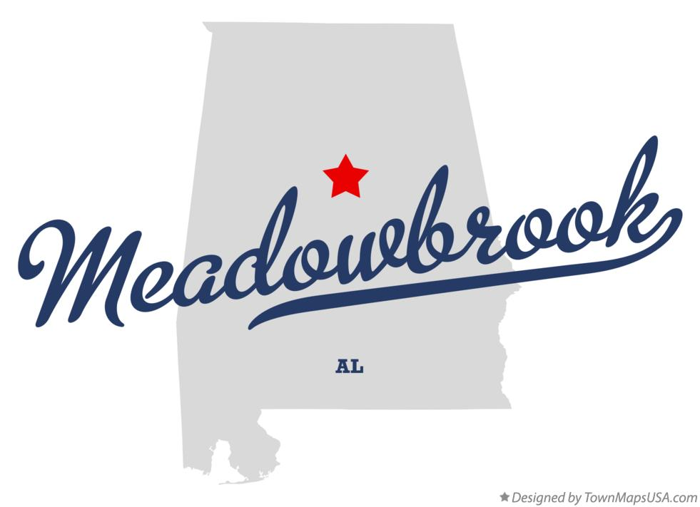 Map of Meadowbrook Alabama AL