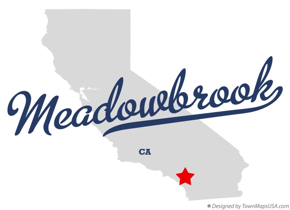 Map of Meadowbrook California CA
