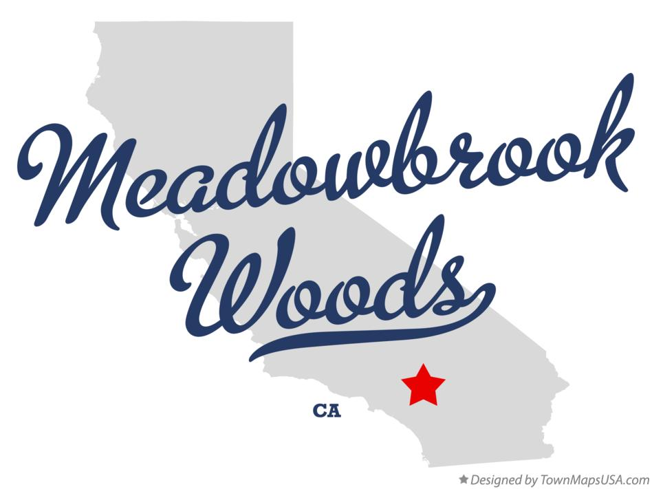 Map of Meadowbrook Woods California CA