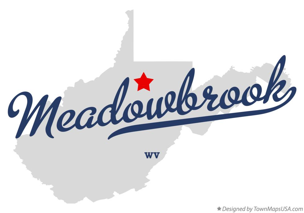 Map of Meadowbrook West Virginia WV