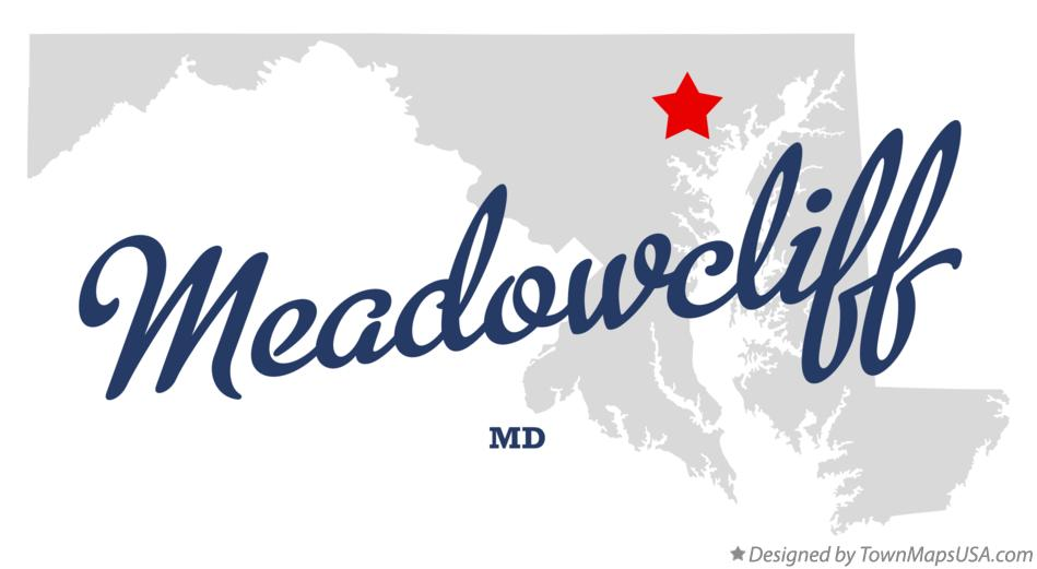 Map of Meadowcliff Maryland MD