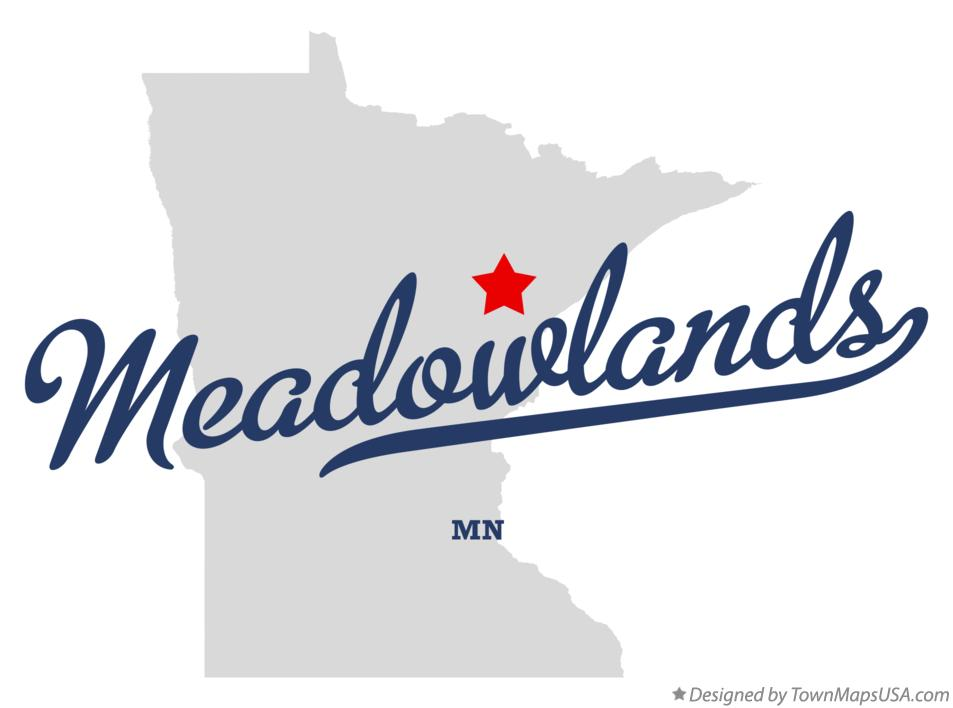 Map of Meadowlands Minnesota MN