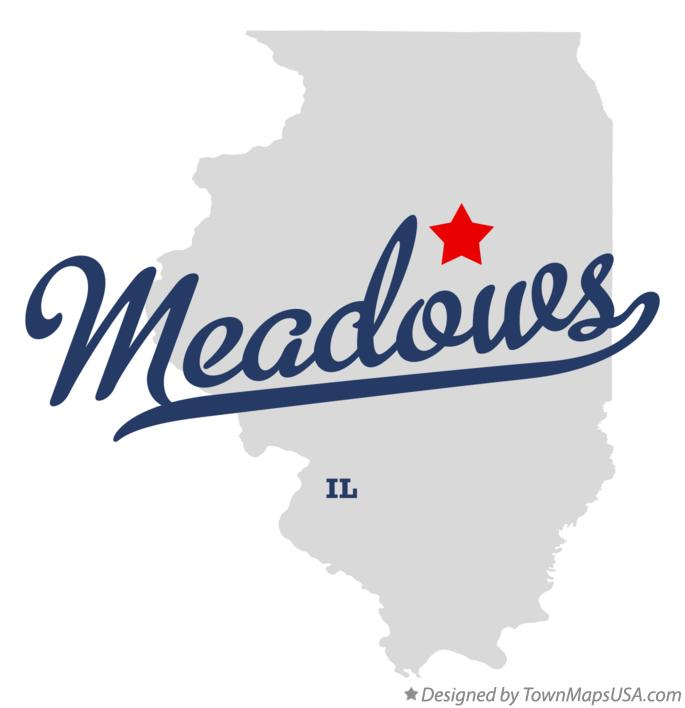 Map of Meadows Illinois IL