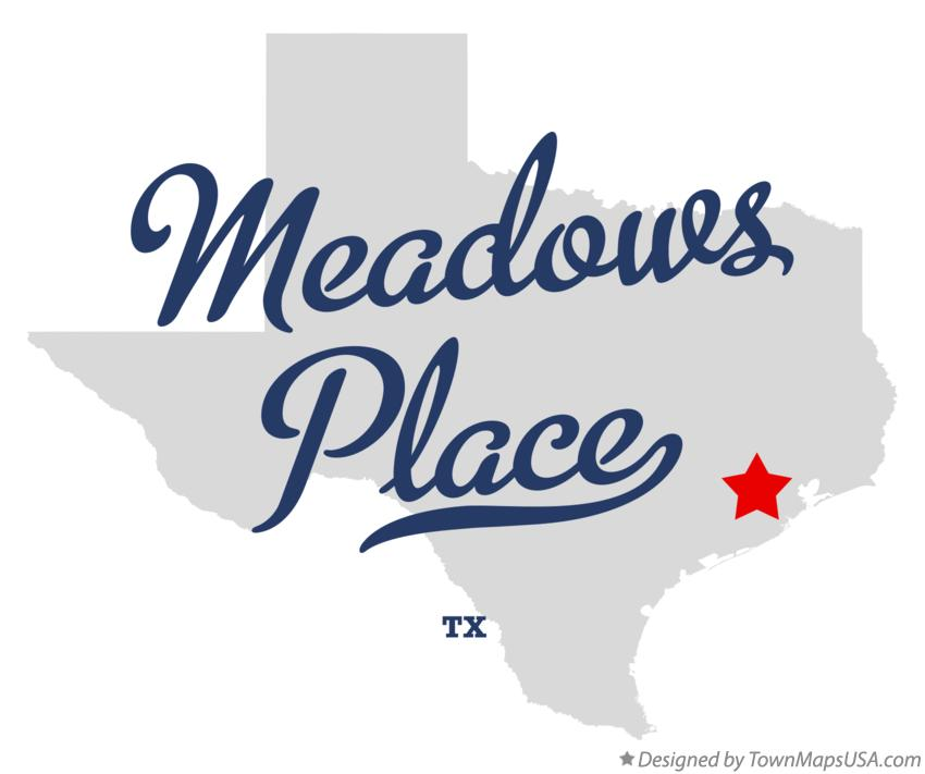 Map of Meadows Place Texas TX