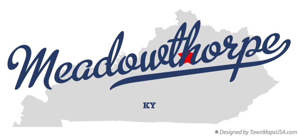 Map of Meadowthorpe Kentucky KY