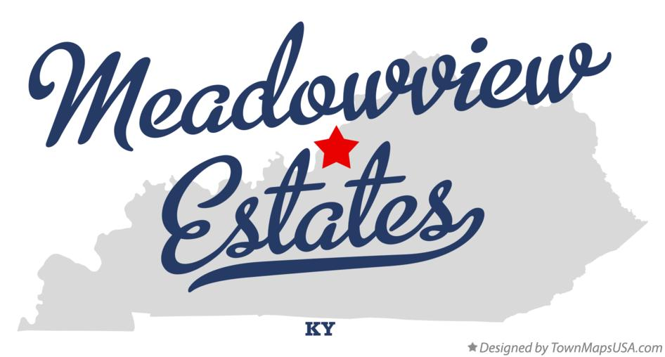 Map of Meadowview Estates Kentucky KY