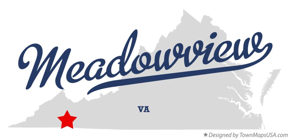 Map of Meadowview Virginia VA