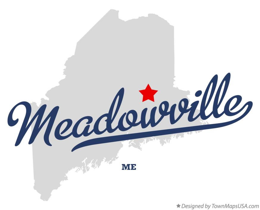Map of Meadowville Maine ME