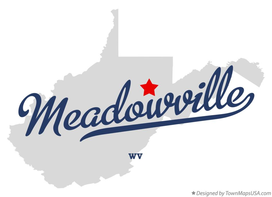 Map of Meadowville West Virginia WV