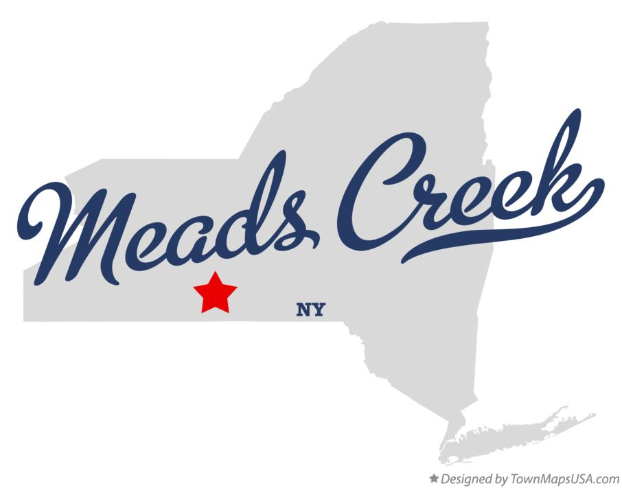 Map of Meads Creek New York NY