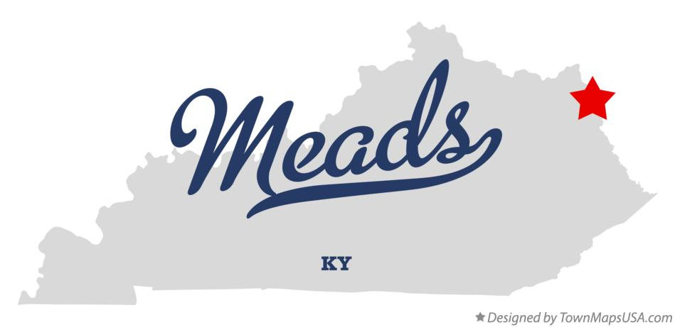 Map of Meads Kentucky KY