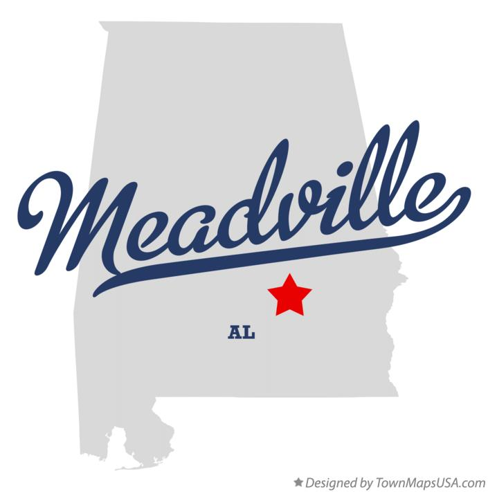 Map of Meadville Alabama AL