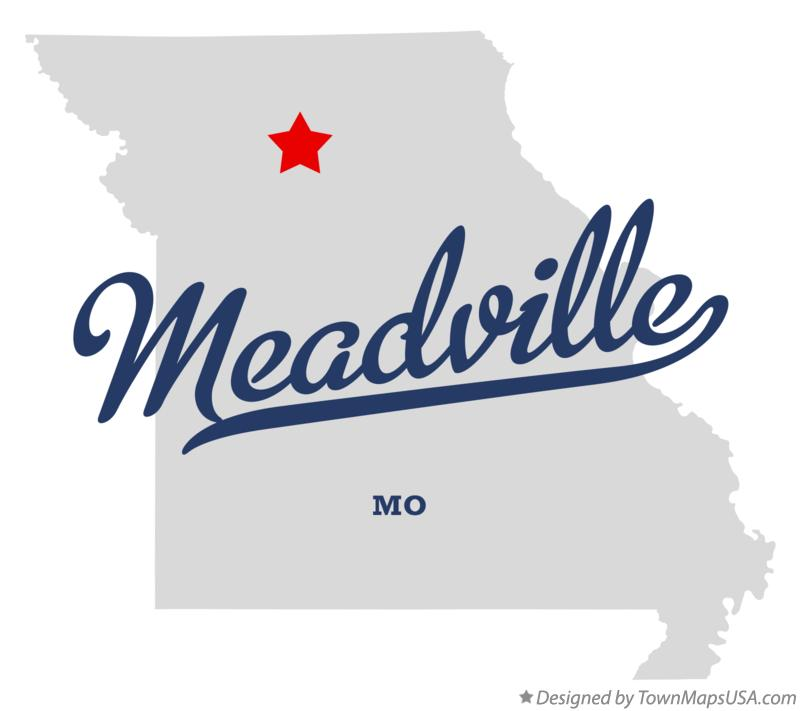 Map of Meadville Missouri MO