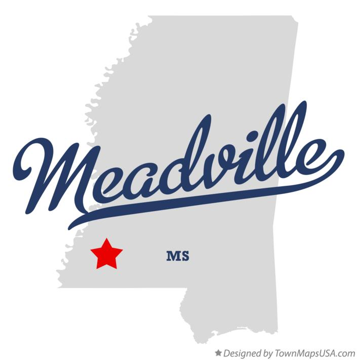 Map of Meadville Mississippi MS