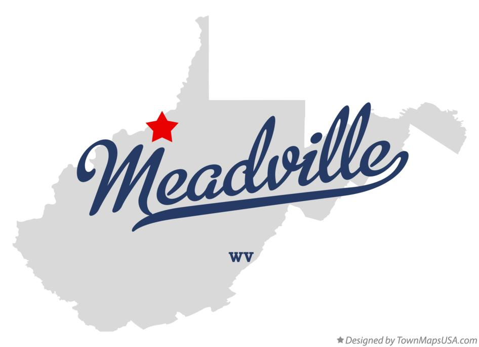Map of Meadville West Virginia WV