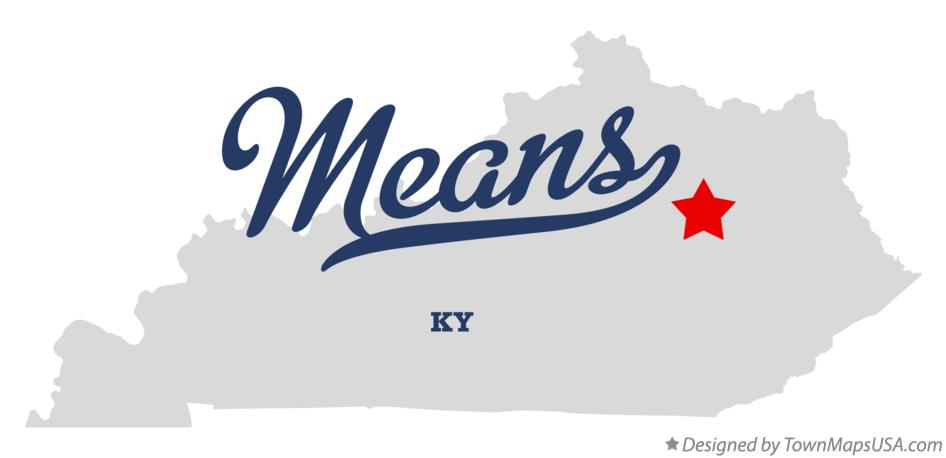 Map of Means Kentucky KY