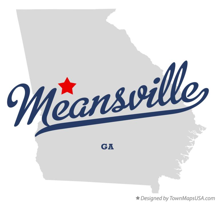 Map of Meansville Georgia GA