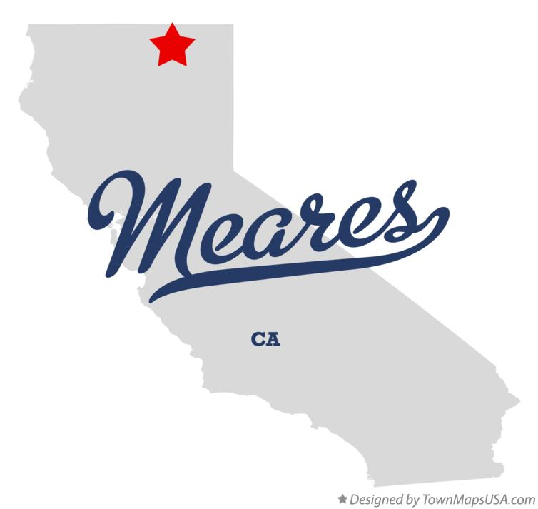 Map of Meares California CA