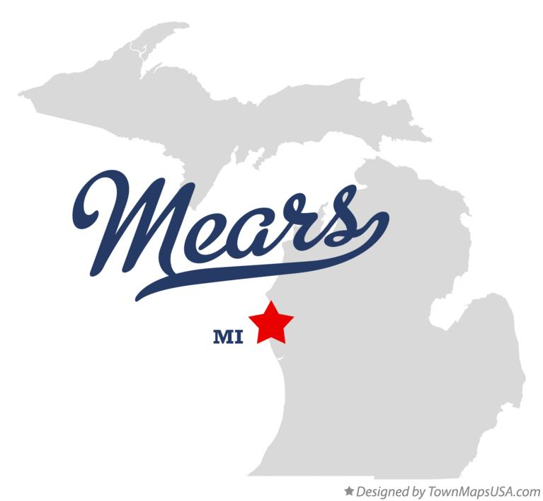 Map of Mears Michigan MI