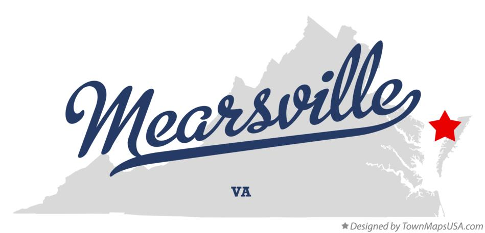 Map of Mearsville Virginia VA