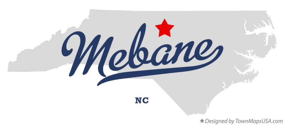 Map of Mebane North Carolina NC