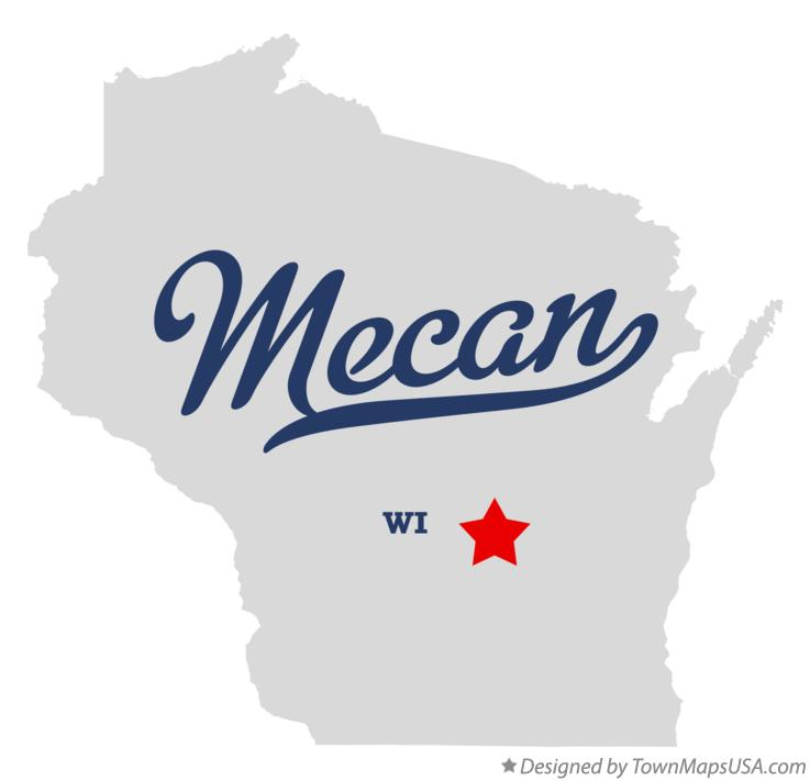 Map of Mecan Wisconsin WI