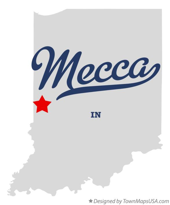Map of Mecca Indiana IN