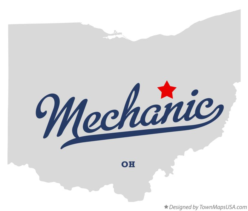Map of Mechanic Ohio OH