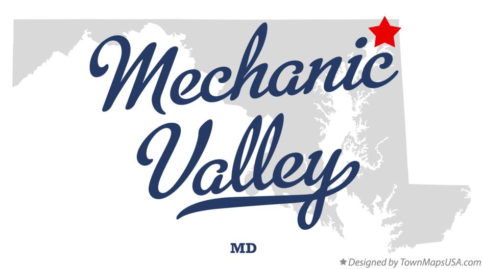 Map of Mechanic Valley Maryland MD