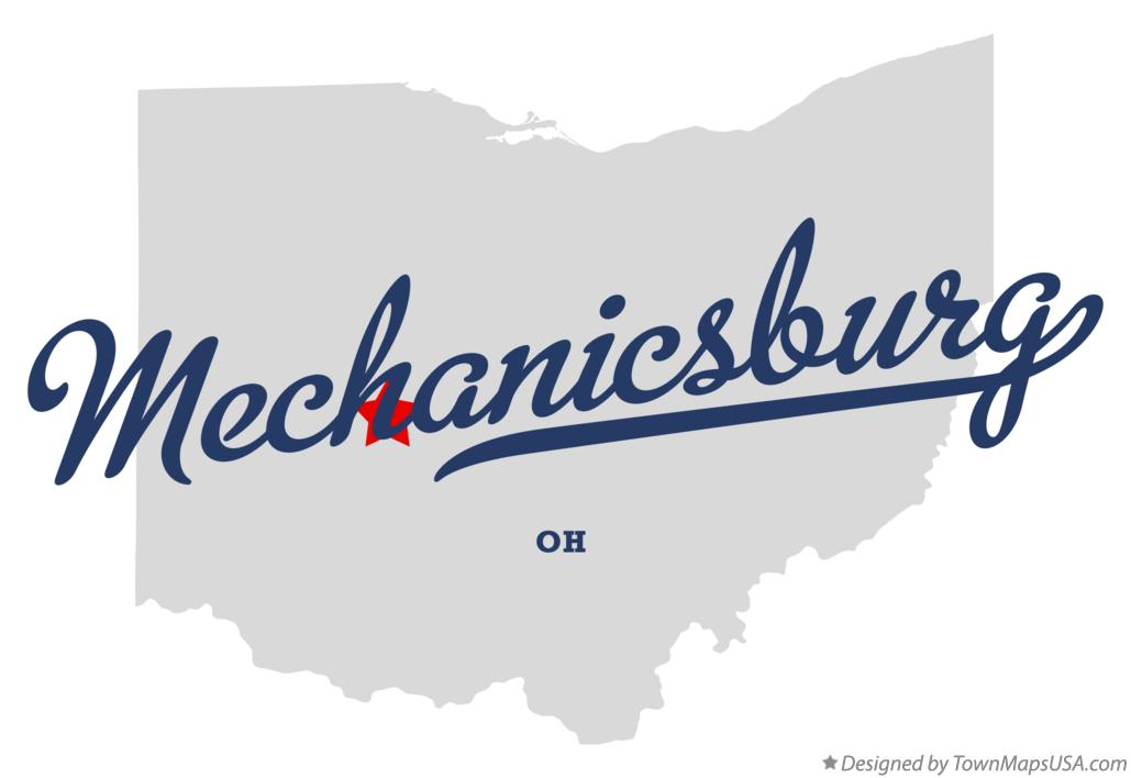 Map of Mechanicsburg Ohio OH