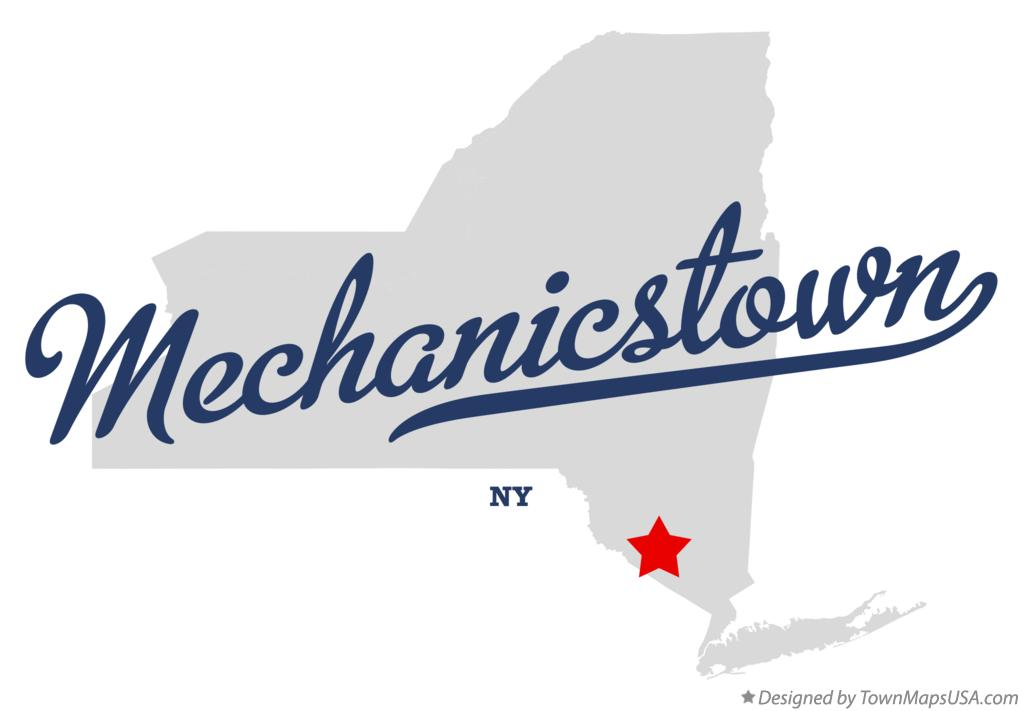 Map of Mechanicstown New York NY