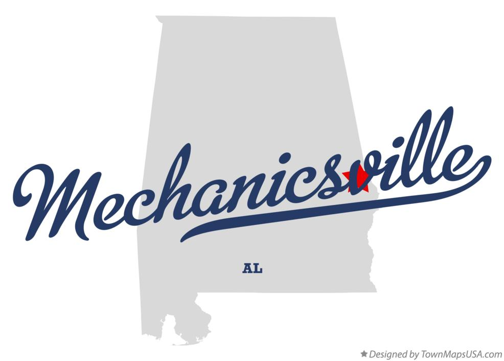 Map of Mechanicsville Alabama AL