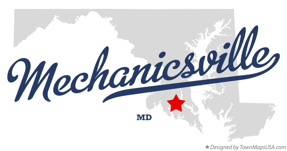 Map of Mechanicsville Maryland MD