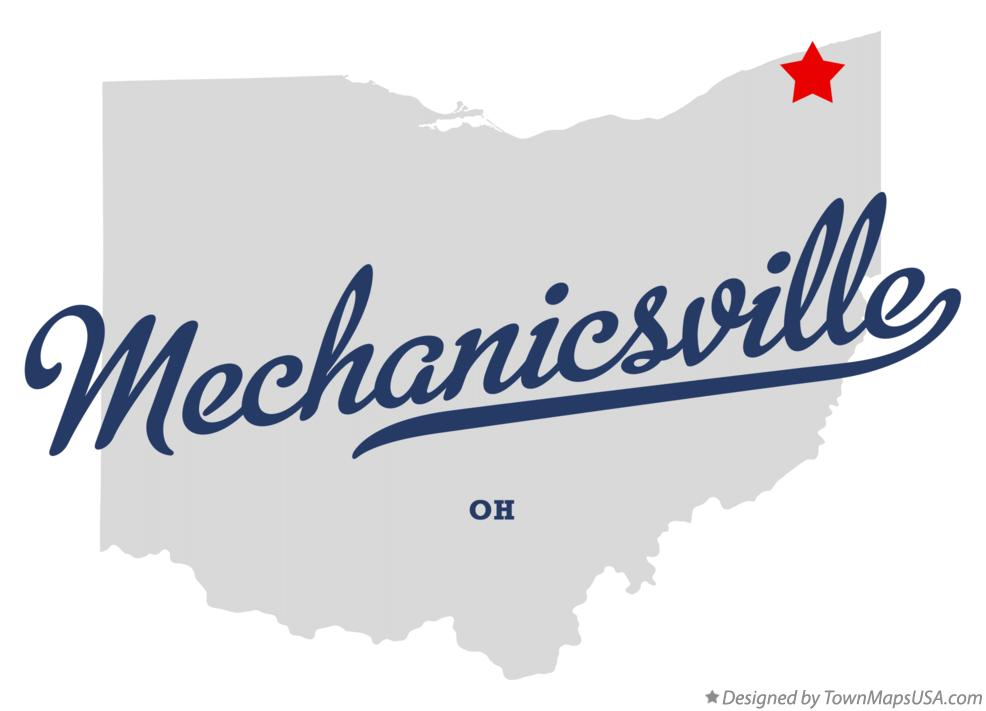Map of Mechanicsville Ohio OH