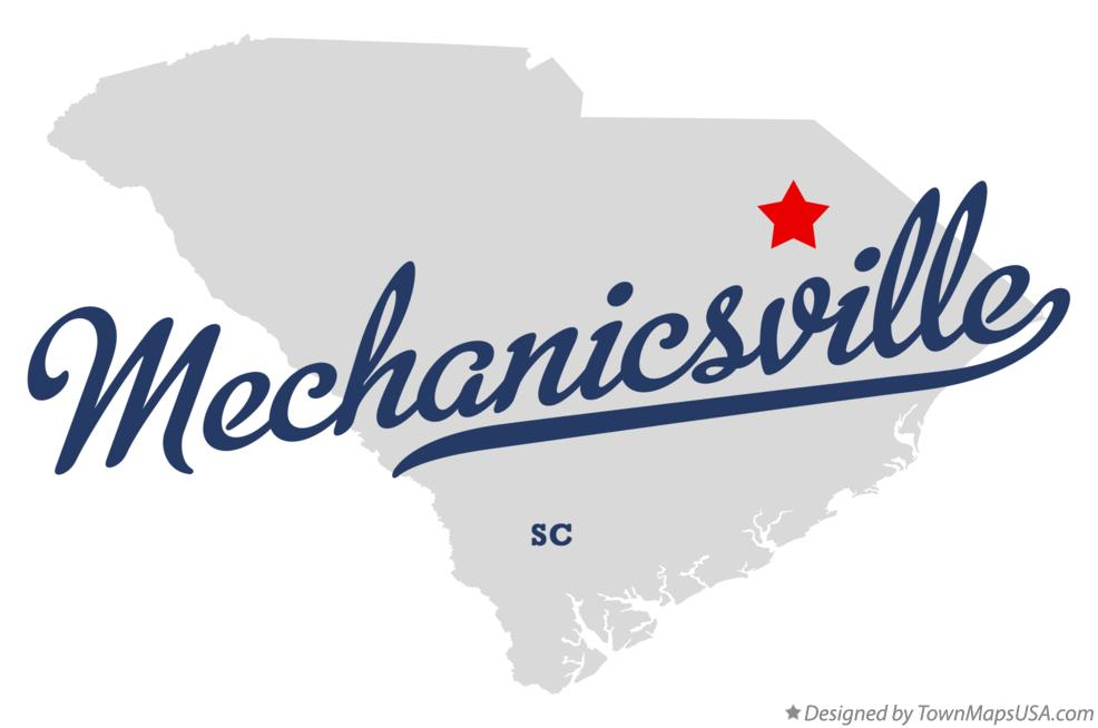 Map of Mechanicsville South Carolina SC