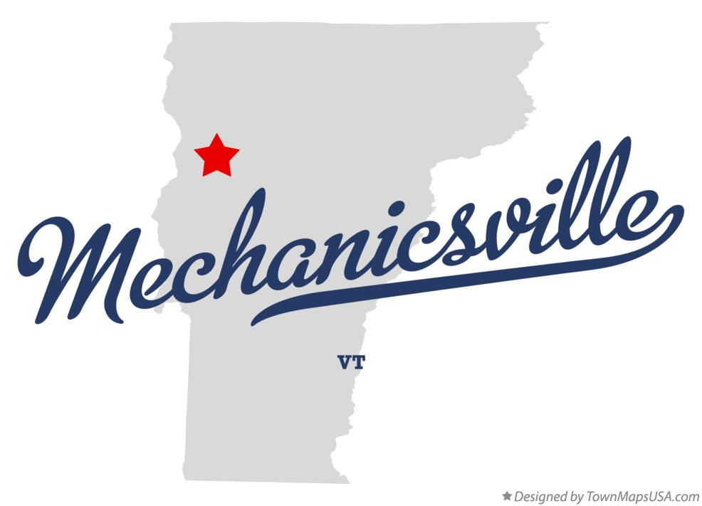 Map of Mechanicsville Vermont VT