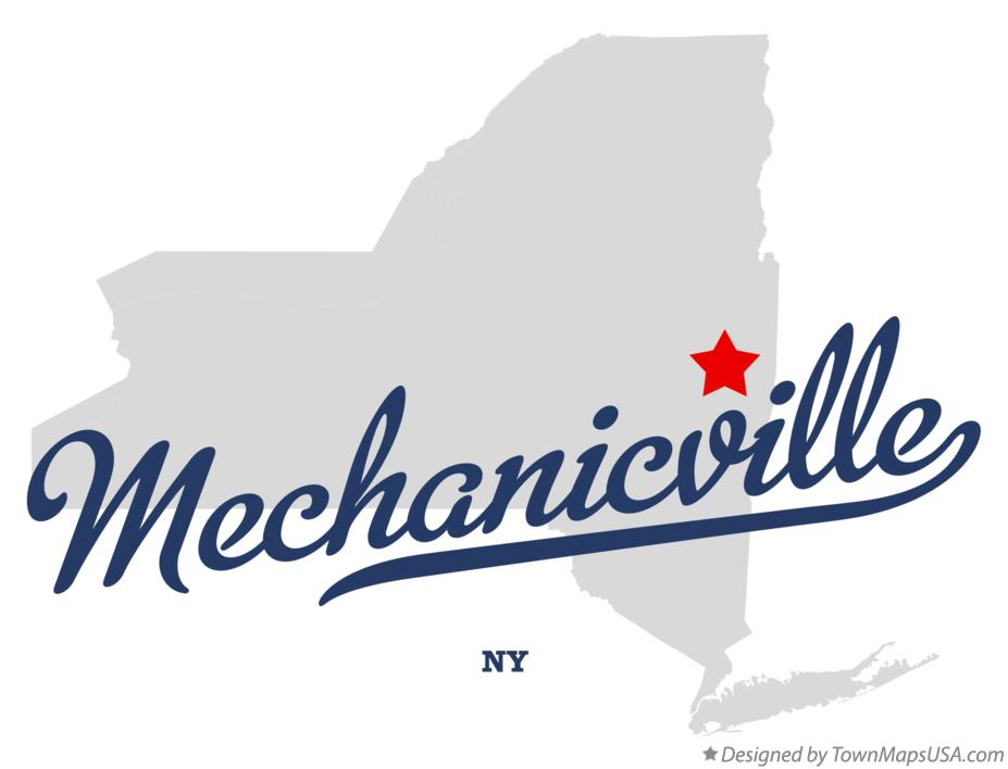 Map of Mechanicville New York NY