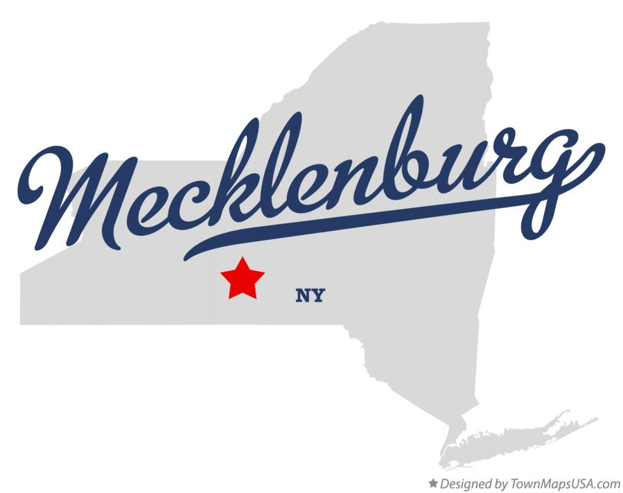 Map of Mecklenburg New York NY
